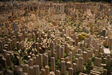 Image of a physical model city